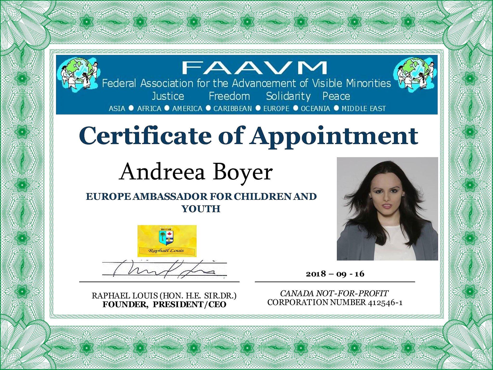 FAAVM Certificate